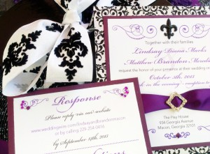 Purple with black is very popular. And brocade continues to be a trend.