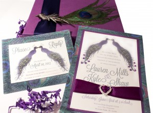 Peacock Wedding Invites are a 2013 trend
