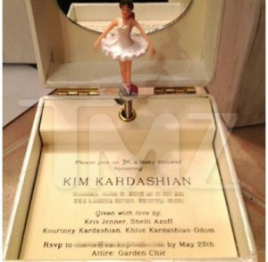 Kim's baby shower invite
