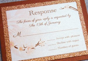 Cherry Blossom Musical Invitation in Autumn Shades