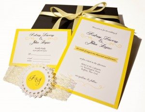 Yellow Swirl Musical Invitation
