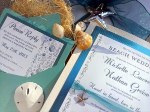 Elegant Beach Musical Invitation
